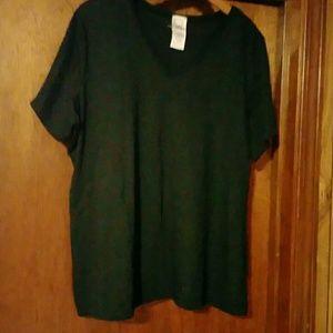 Roaman's V-neck Short_sleeved Black T-shirt